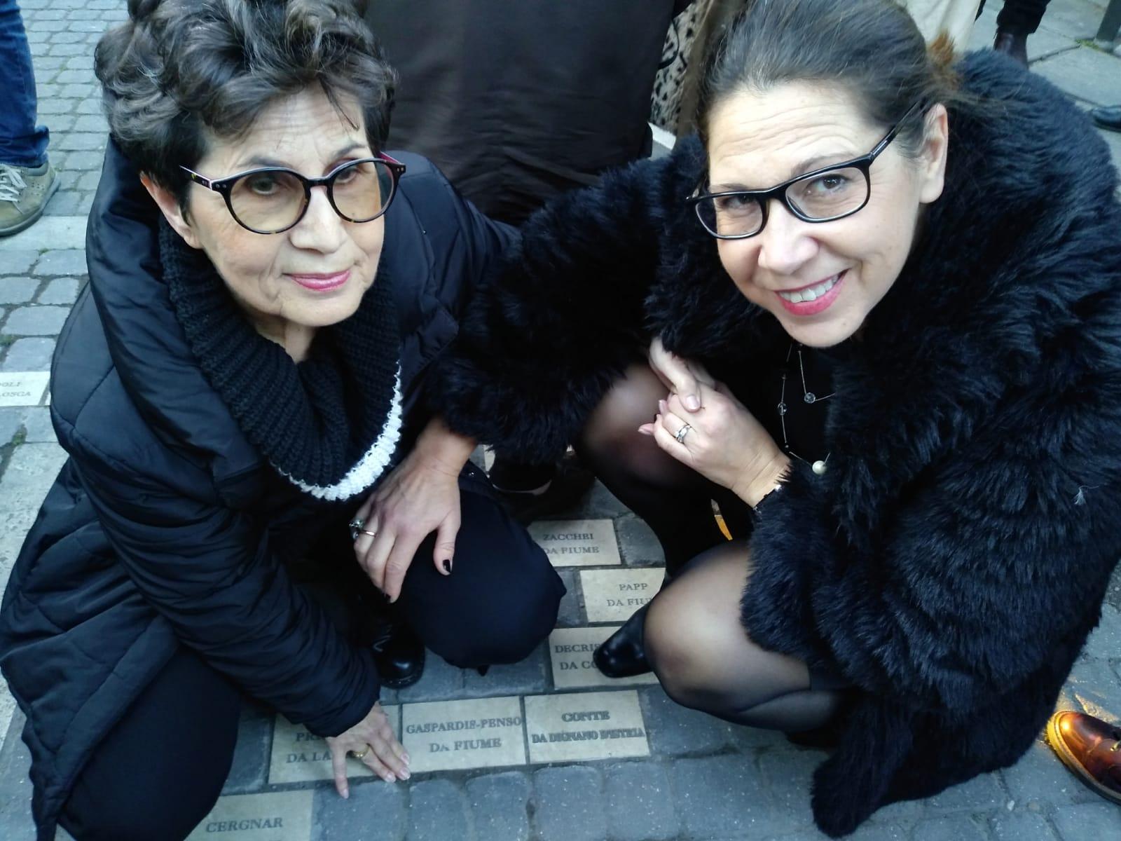 Inaugurazione delle pietre di inciampo dedicate ai profughi Giuliano-Dalmati
