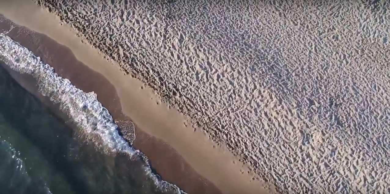 Le dune di Capocotta viste dal drone