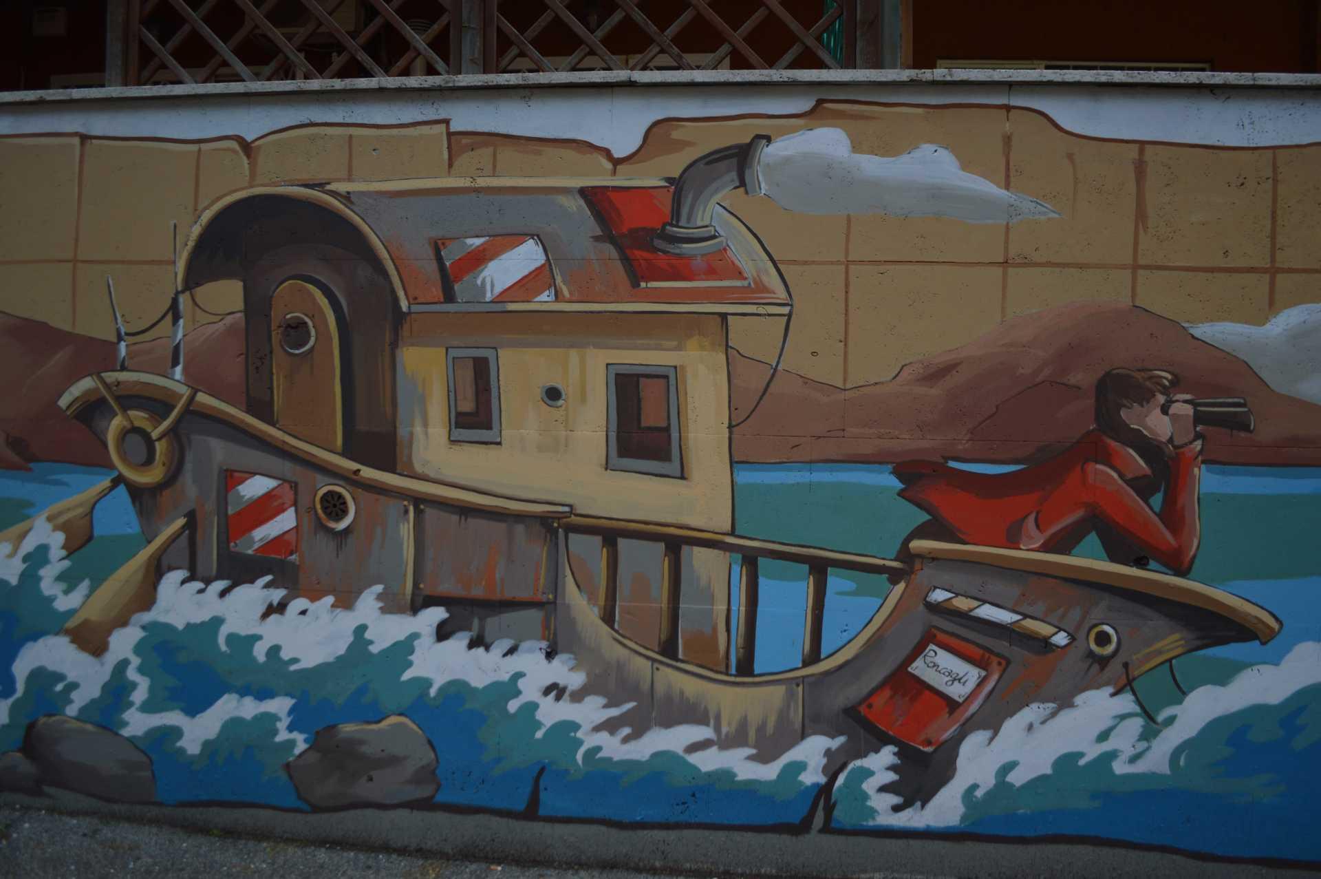 Lo splendido murales di Alessandra Carloni in via Capo Spartivento