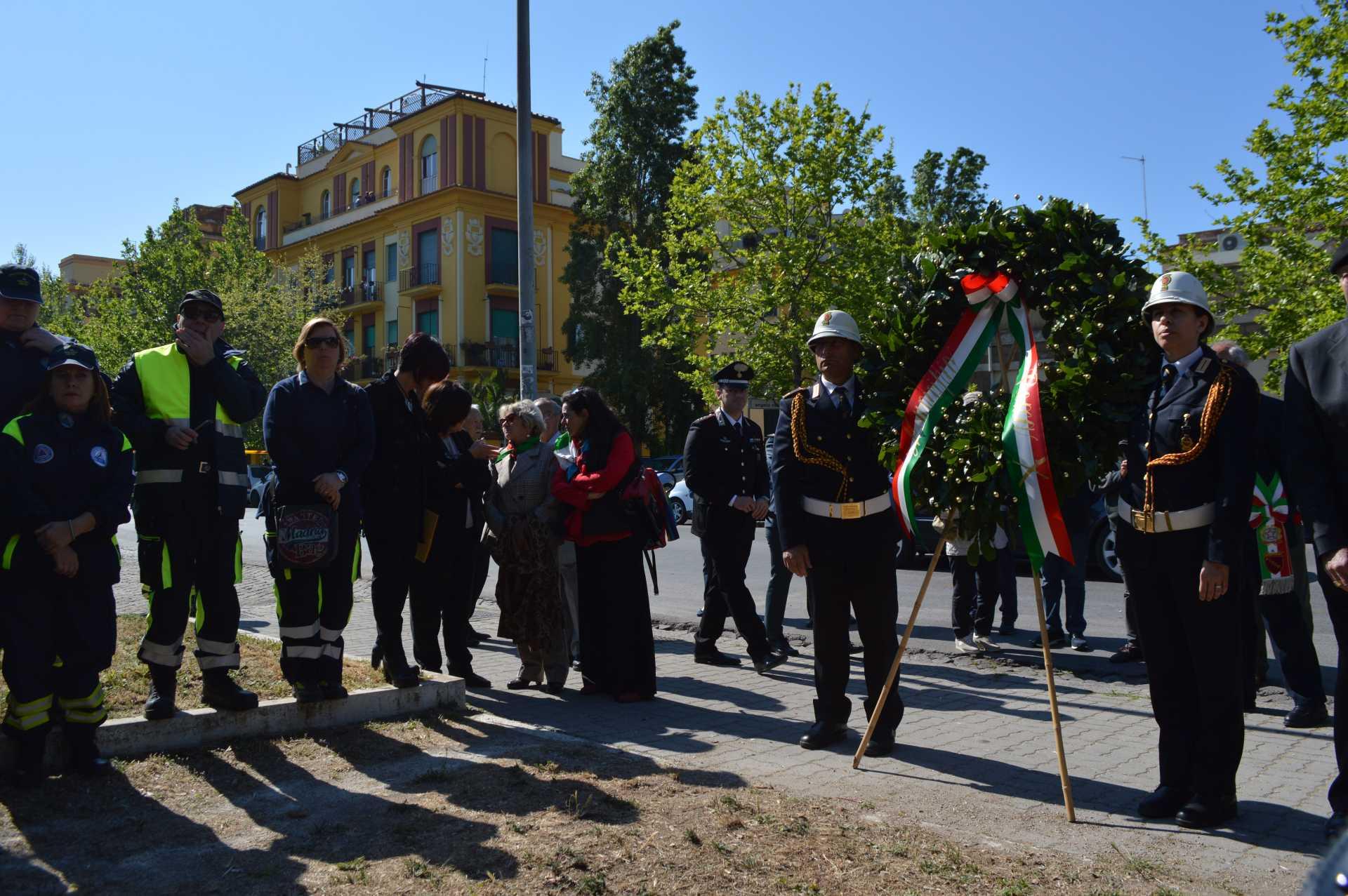 25 aprile 2017: Commemorazione ai caduti di Ostia Lido