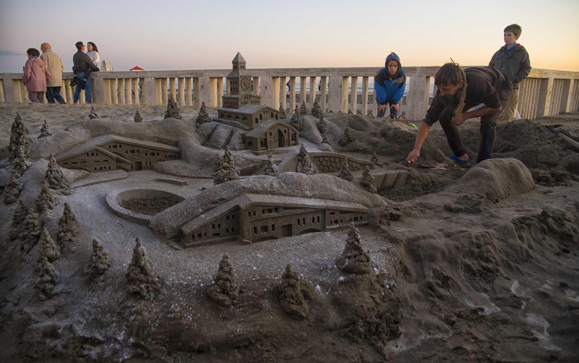Marek, l'artista della sabbia