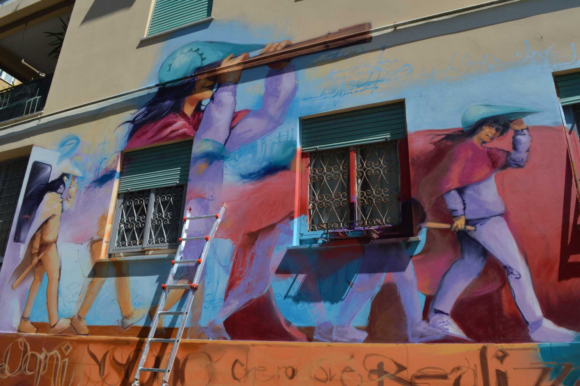 Sikame, il nuovo murales a Ostia
