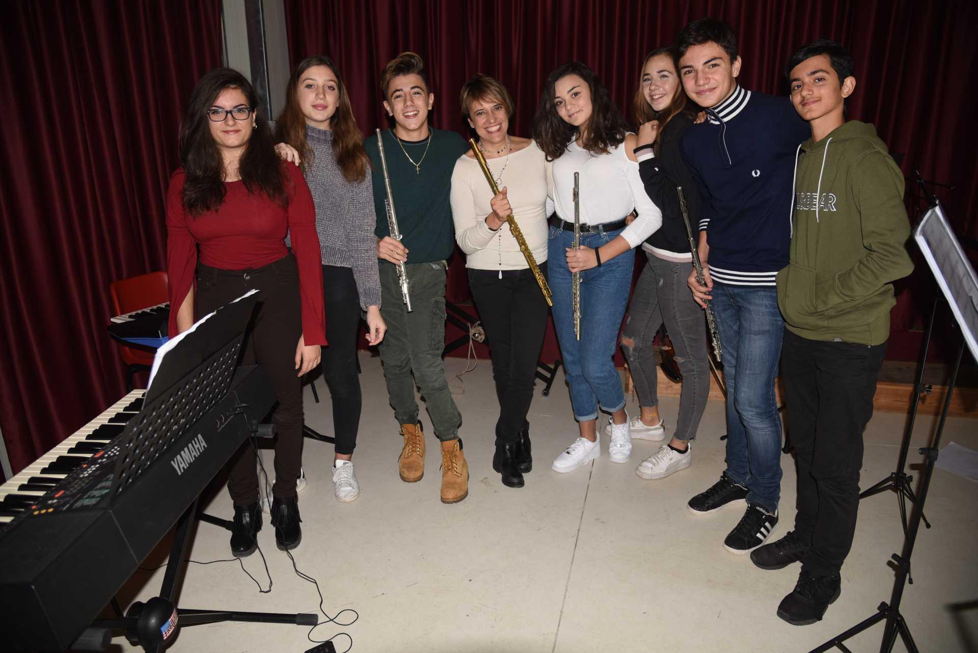Il Giovane Ensamble del Lido diretto da Iolanda Zignani alla sua prima esibizione pubblica