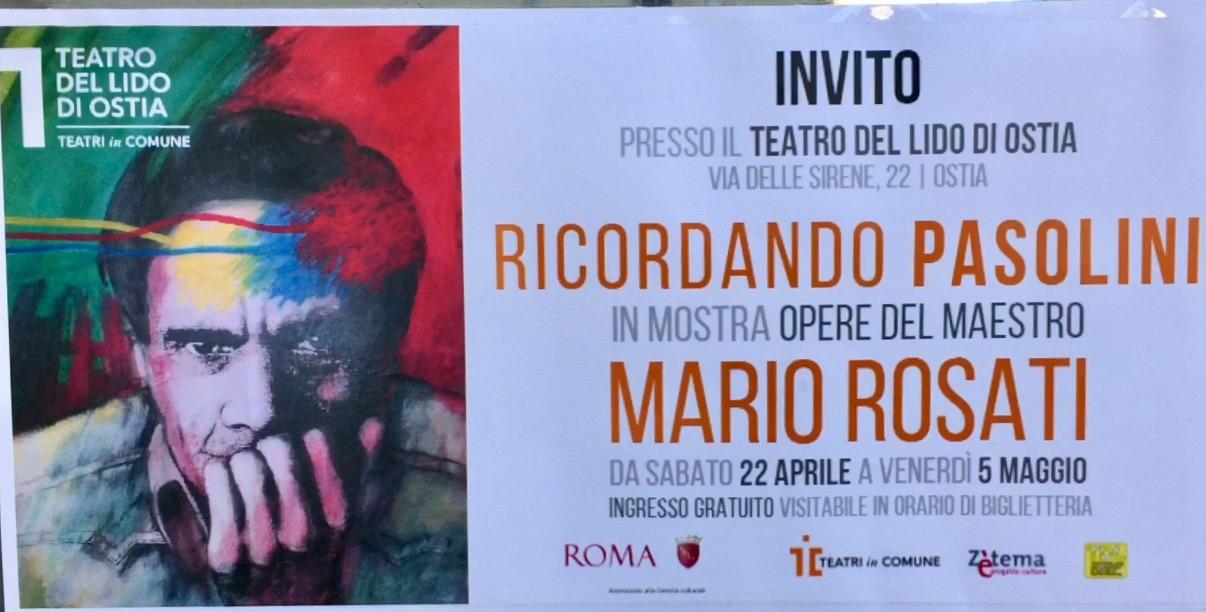 Inaugurata la mostra di Mario Rosati Ricordando Pasolini