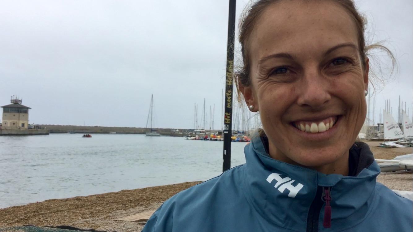 La campionessa di windsurf di Ostia, Flavia Tartaglini