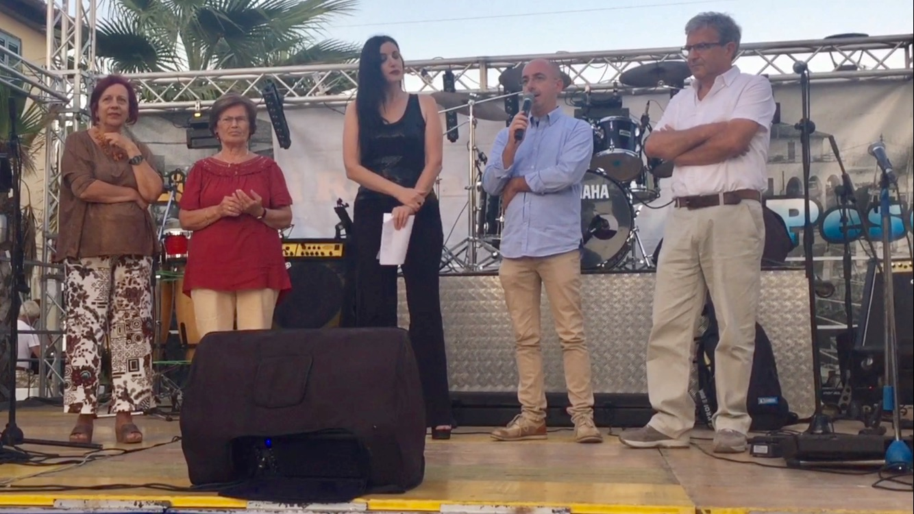 Il sindaco di Accumoli presente a Ostia alla Sagra della Tellina 2017