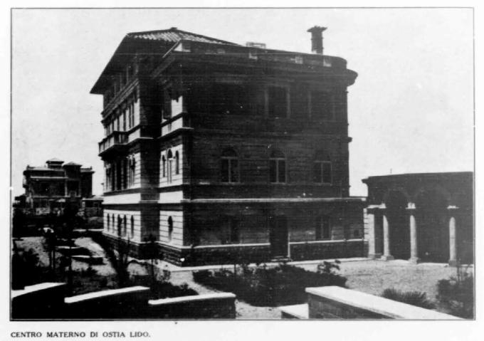 Il centro materno di Ostia Lido, da un articolo del 1932