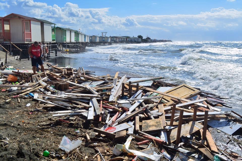 Nuovi danni causati dalla mareggiata