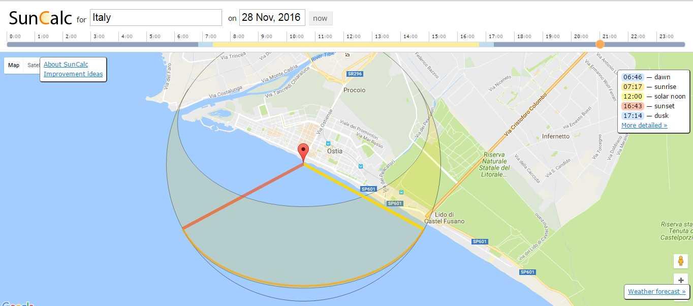 Perchè ad Ostia si vede l'alba sul mare?