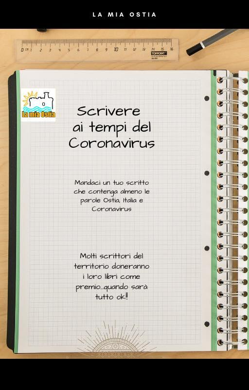 Scrivere ai tempi del Coronavirus